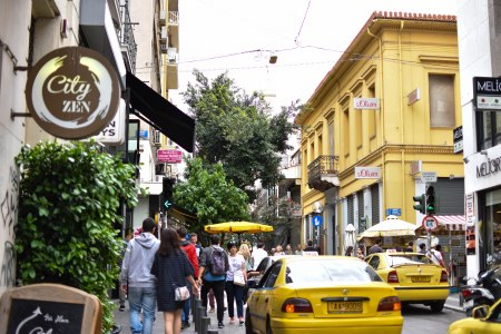2017-06-11-Greece-Day-5-Athens-streetview-yellow